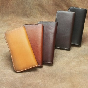 Long Wallet Clutch Bag Leather Vintage Purse Wallet ロング レザー 天然 ビンテージ 財布 パスケース ウォレット (YYB99-9798856)