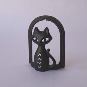 南部鉄器 猫のレタースタンド
