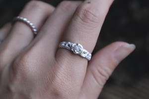Gray raw Diamond ring