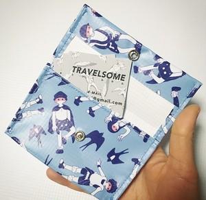 ツバメ カードケース (ブルー グレー)