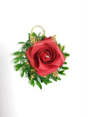 折り紙のバラクリスマス用小物オーナメント