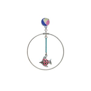 Planet Earth Circle Pierce  -Pink Fish-