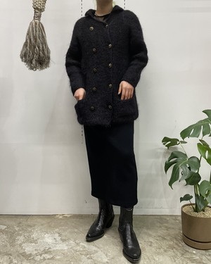 mohair mix double-breast knit cardigan 【ML位】