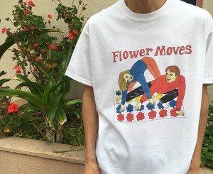 "HELMET UNDERGTOUND & RIKO""FLOWER MOVES""Tシャツ"