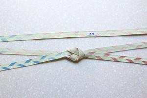 笹浪組「五雲」薄緑(紅・青暈し)長尺(約175cm)