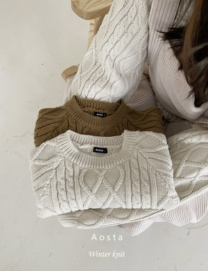 =sold out= tweed knit pullover〈Aosta〉