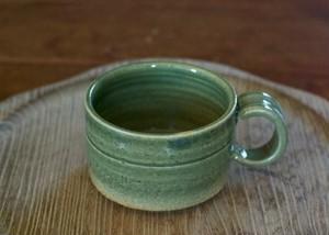 広口コーヒーカップ(藍媚茶釉)