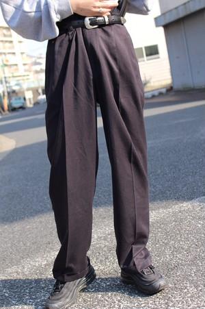 Black Wide Slacks Pants