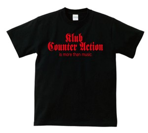 KLUB COUNTER ACITON OFFICIAL T-SHIRT : 1(黒ボディー) レッドプリント