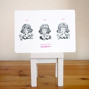 レタープレスカード pachipachipachi