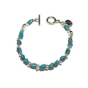 STEADY HIGH/ステディハイ Turquoise&silver beads bracelet