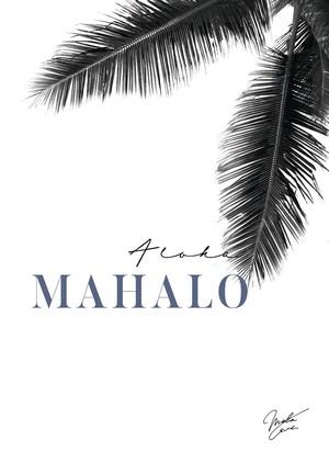 MAHALOVE 作品名: Mahalo blue  P20キャンバス【商品コード: ml-mahalo blue 】