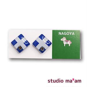 ■NAGOYA-01  ピアス。しかく。〜イヤリング変更可〜