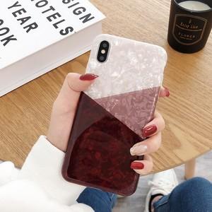 スマホケース 携帯ケース iPhoneケース ホログラム バイカラー