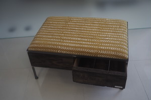 品番UAYW-106  2drawer ottoman[wide/African yellow]