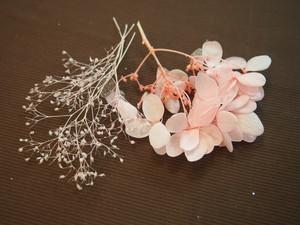 【店頭渡し】プリザーブドフラワー紫陽花とかすみ草セット ピンク  550