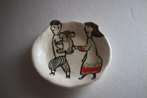 室井雑貨屋(室井夏実)|豆皿 ボクとワタシとコアラ