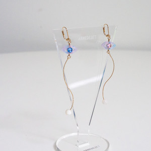 Namida no Ato Pierces / Earrings -marble pink-