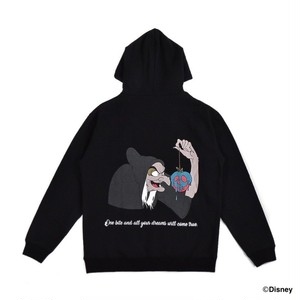 EXAMPLE / SNOW WHITE Design HOODIE / BLACK