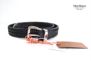 ディノマッティア|Dino Mattia|レザーメッシュベルト|ブラック