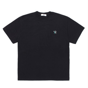 RUEED LOGO EMBROIDERY T-SHIRT / BLACK-TURQUIOSE