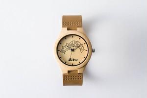 竹製腕時計 クオーツ式 ~高知県地図版~