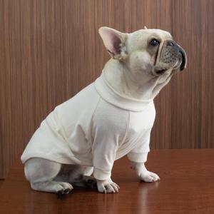【綿のめぐみ】 長袖TシャツM(フレンチブルドック用)