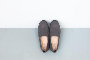 【ナチュラルカラー】グレー スリッポン・靴