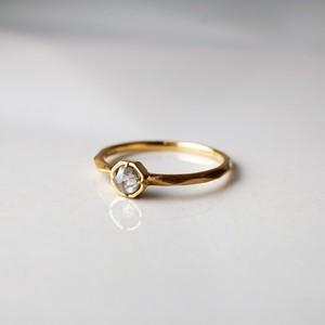 Rose Cut Diamond Pinky Ring / Octagon