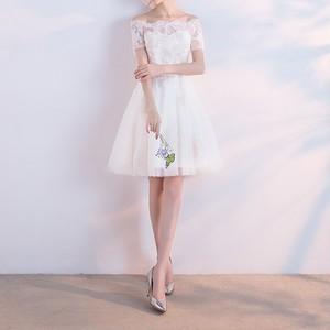 オフショル編み上げドレス ZA2111