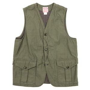 WORKERS / Cruiser Vest Reversed Sateen OD Msize
