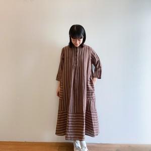 C-71105 【Tomoyo】 Linen Stripe Dress