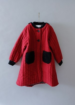 【19AW】ミチリコ (michirico) - quilting coat/エンジ[L]