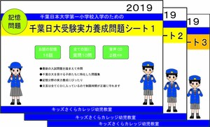 千葉日大受験実力養成問題シート第1~第3集セット