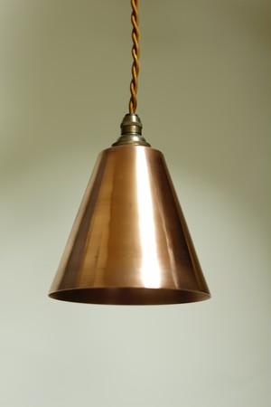 銅シェードペンダントライト#3