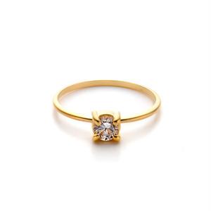 4mm Zirconia Round - 4 Claw Ring