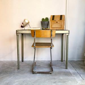 Dutch Vintage Industrial Metal Table オランダ