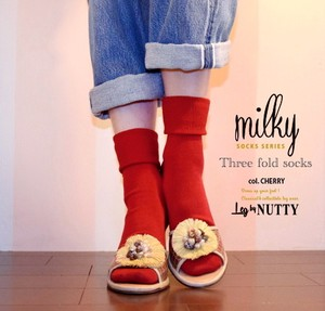 【MILKY SOCKS SERIES 】 COLOR<CHERRY>