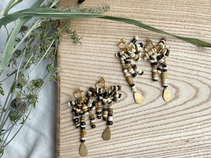 mix bone beads pierce/earrings