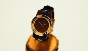 押花紫陽花の木製腕時計