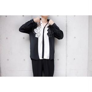 black white embroidery design  shirts