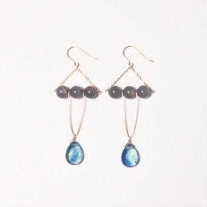 【ドラマ着用】Ocean and full moon pierced earring