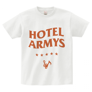 H/A LOGO STAR ICON T-SHIRTS WHITE x ORANGE