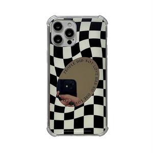 チェスチェックミラー iPhoneケース 30