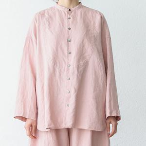 タリン、フレンチリネンシャツ 朝焼けのうすピンク