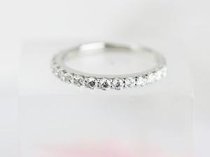 プラチナ枠ダイヤモンド0.47ctハーフエタニティリング