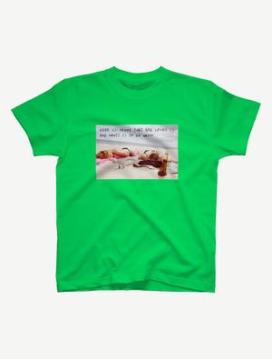 【悩み無用の開放ビーチ】Tシャツ(ブライトグリーン)