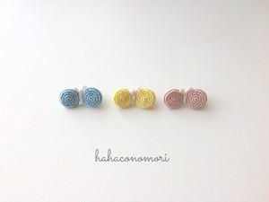 極細レース糸♡ミニちょうちょのブローチ パステルカラー3色
