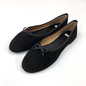 【本革】羊革スエード バレエシューズ  フラット  Anew it(アニューイット )靴 日本製 送料無料