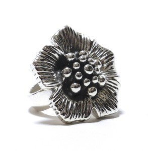 Vintage Sterling Silver Mexican Poppy Flower Ring